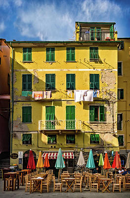 Photograph - Cafe In Vernazza by Carolyn Derstine