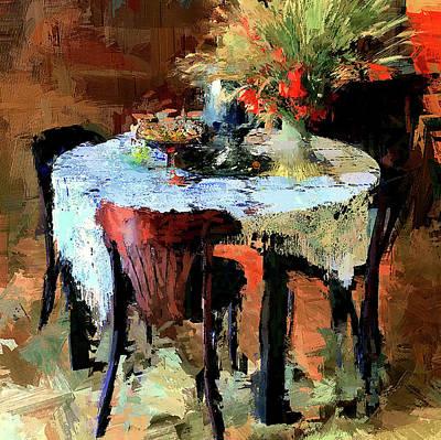 Digital Art - Cafe Interior 1 by Yury Malkov