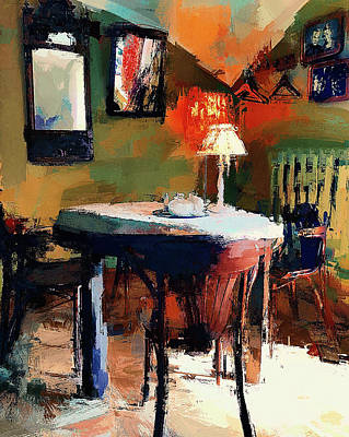 Cafe Interior 2 Art Print