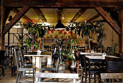 Photograph - Cafe Interior Christianshavn Copenhagen by Dorothy Berry-Lound
