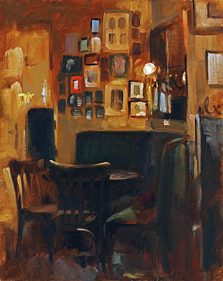 Painting - Cafe Jelinek by Andrew Judd