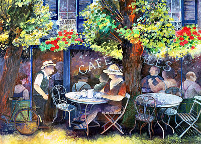 Cafe Jules Art Print by Lisa Graa Jensen