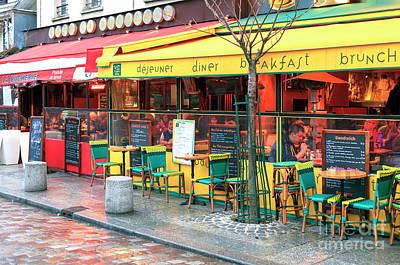 Photograph - Cafe La Bucherie Colors Paris by John Rizzuto