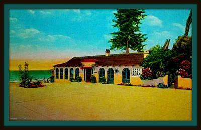 Laguna Beach Mixed Media - Cafe Las Ondas, Laguna Beach Ca, 1929 by Dwight GOSS
