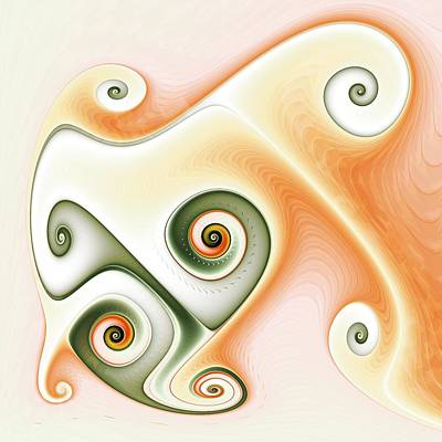 Fractal Geometry Digital Art - Cafe Latte by David April