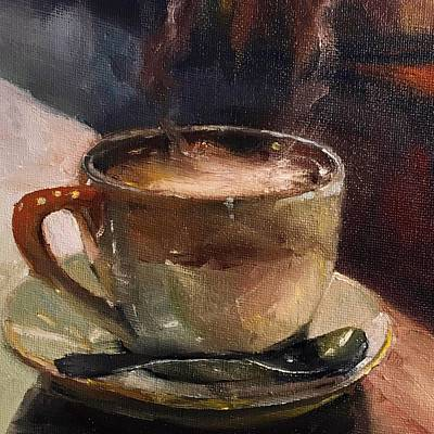 Painting - Cafe Love Coffee Painting by Michele Carter