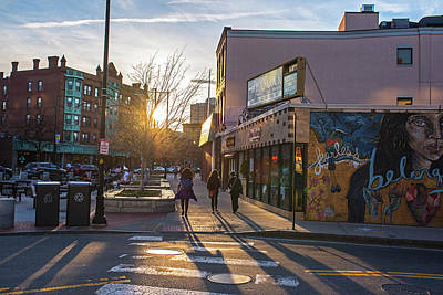 Photograph - Cafe Luna Central Square Cambridge Ma Sunset by Toby McGuire