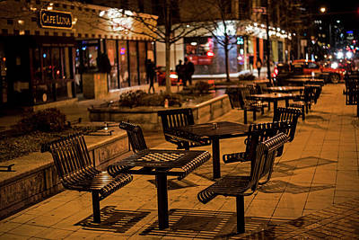 Photograph - Cafe Luna Central Square Cambridge Ma by Toby McGuire