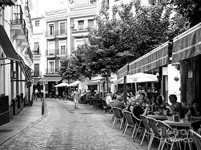 Photograph - Cafe Lunch In Seville by John Rizzuto