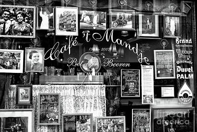 Photograph - Cafe Mandje Mono by John Rizzuto