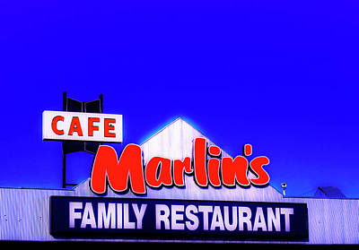 Photograph - Cafe Marlin's by Mary Capriole
