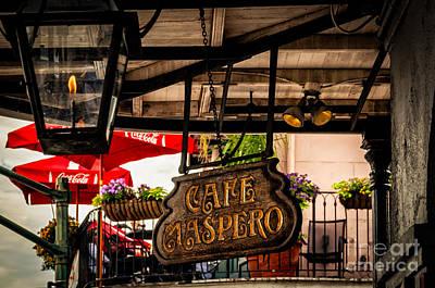 Photograph - Cafe Maspero-nola by Kathleen K Parker
