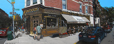Park Scene Painting - Cafe Moutarde by Ted Papoulas