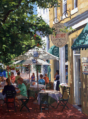 Painting - Cafe Mozart, Cape Town by Roelof Rossouw