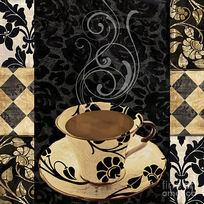 Dot Painting - Cafe Noir IIi by Mindy Sommers