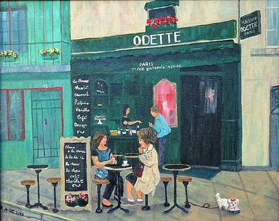 Painting - Cafe Odette by Diane Arlitt
