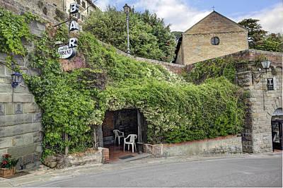 Photograph - Cafe Orsini Tuscany by Al Hurley