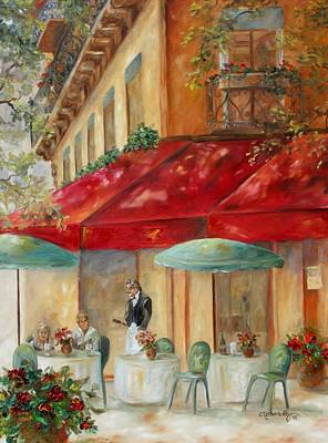 Outdoor Cafe Painting - Cafe' Paris by Chris Brandley