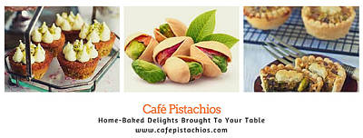 Digital Art - Cafe Pistachios Banner by Mario MJ Perron
