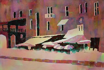 Cafe Porto Venere France Art Print