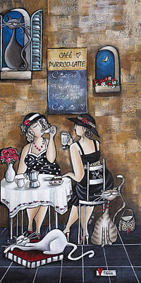 Addict Painting - Cafe Purrco Latte by Tania Vorster