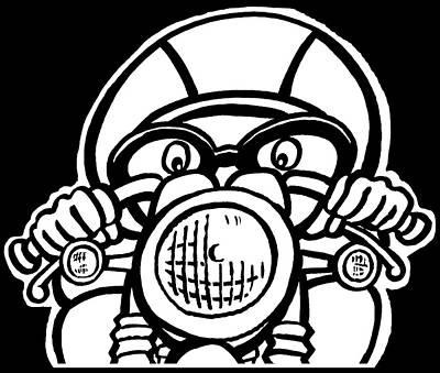 Scott Nelson Drawing - Cafe Racer 1 by Scott Nelson