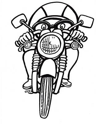 Scott Nelson Drawing - Cafe Racer 2 by Scott Nelson