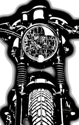 Brat Mixed Media - Cafe Racer by D Tower Jr