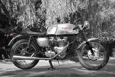 Bonneville Photograph - Cafe Racer by Mark Rogan