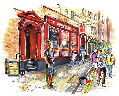 Painting - Cafe Rouge In York by Miki De Goodaboom