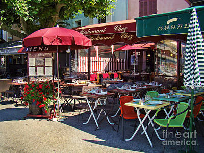 Cafe Scene In France Art Print