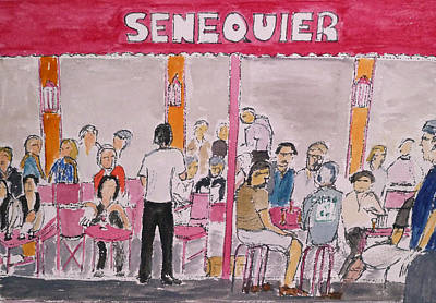 Cafe Senequier St Tropez 2012 Art Print by Bill White