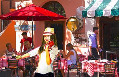 Musician Painting - Cafe Serenade by Judy Kay