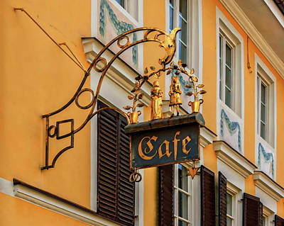 Photograph - Cafe Sign by Anthony Dezenzio