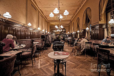Immaterial Photograph - Cafe Sperl by Christian Hallweger