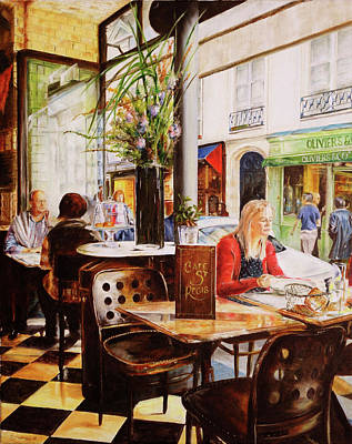 Painting - Cafe St. Regis, Paris by Steve James