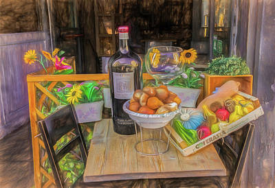 Photograph - Cafe Still Life In Florence Italy by Gary Slawsky