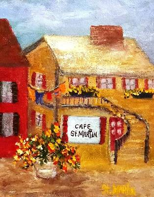 Painting - Cafe St.martin by Annie St Martin