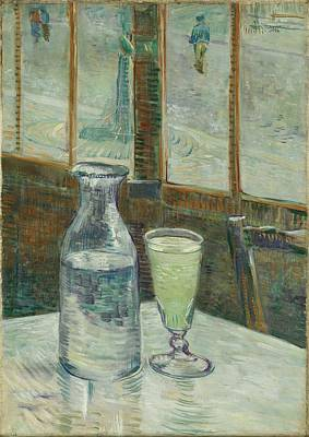 Painting - Cafe Table With Absinthe Paris February  March 1887 Vincent Van Gogh 1853  1890 by Artistic Panda