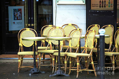 Photograph - Cafe Tables And Chairs by John Rizzuto