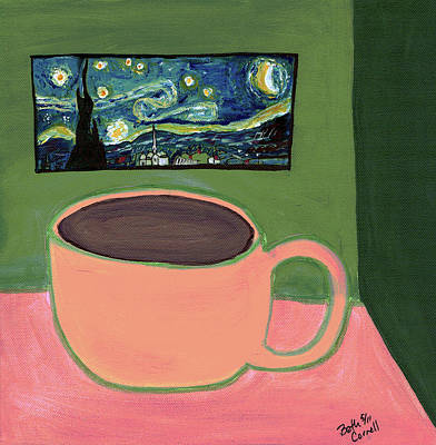 Painting - Cafe Terrace At Night by Beth  Cornell