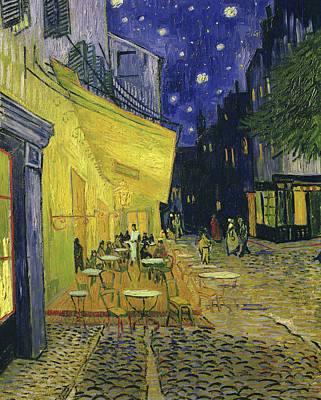 Place Du Forum Painting - Cafe Terrace, Place Du Forum, Arles by Vincent Van Gogh