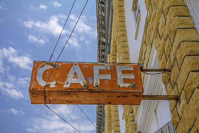 Photograph - Cafe Vintage Sign by Steven Bateson