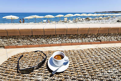 Coffee Photograph - Cafe by Wolfgang Steiner