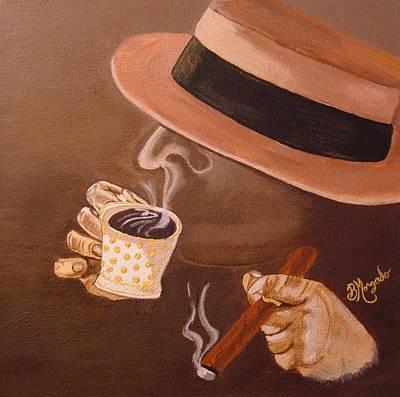 Espresso Painting - Cafesito by Brenda Morgado