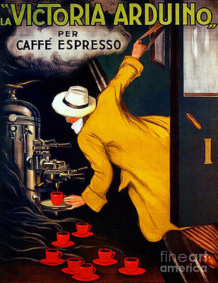 Painting - Caffe Espresso - 1922 Vintage by Ian Gledhill