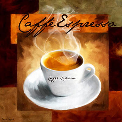 Arabica Digital Art - Caffe Espresso by Lourry Legarde