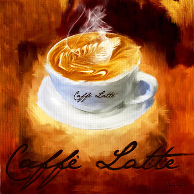 Arabica Digital Art - Caffe Latte by Lourry Legarde