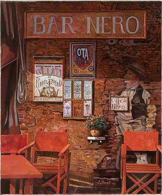 caffe Nero Art Print by Guido Borelli