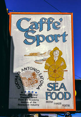 Photograph - Caffe Sport North Beach Signage by Bonnie Follett